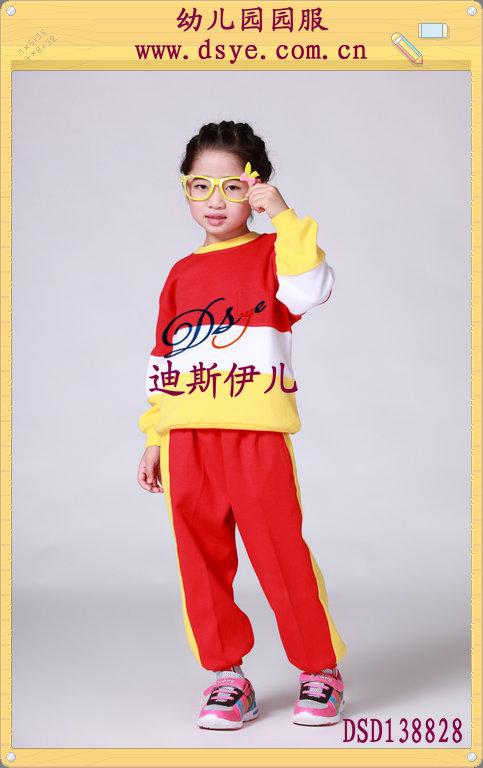 dsd138828红色秋季休闲儿童服装